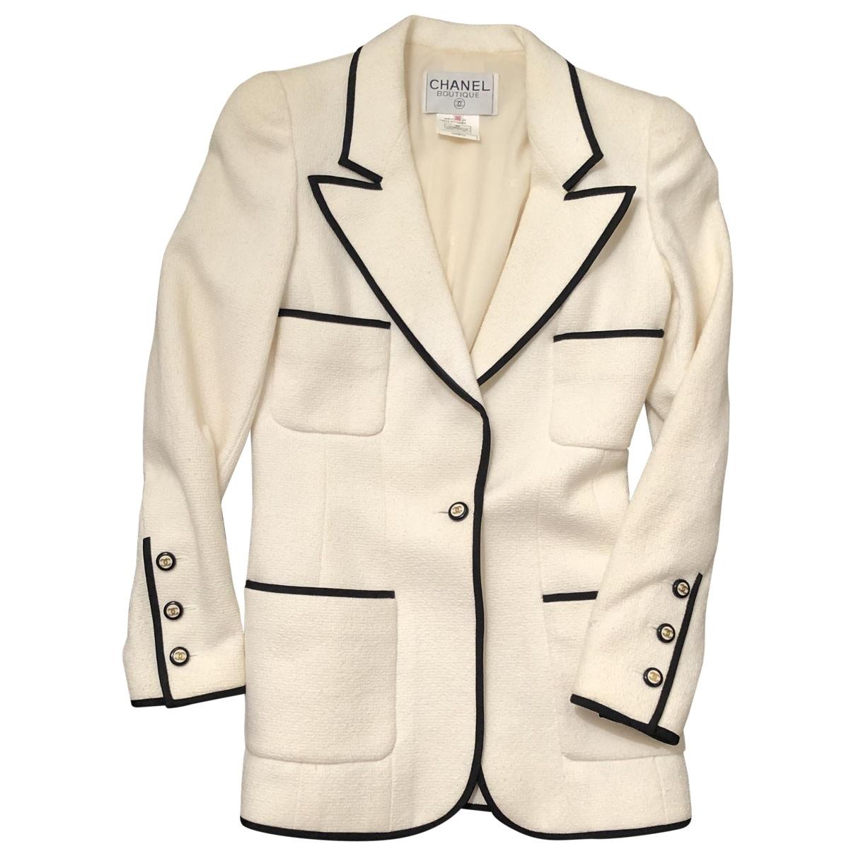 Chanel \N Beige Cotton jacket for Women 36 FR
