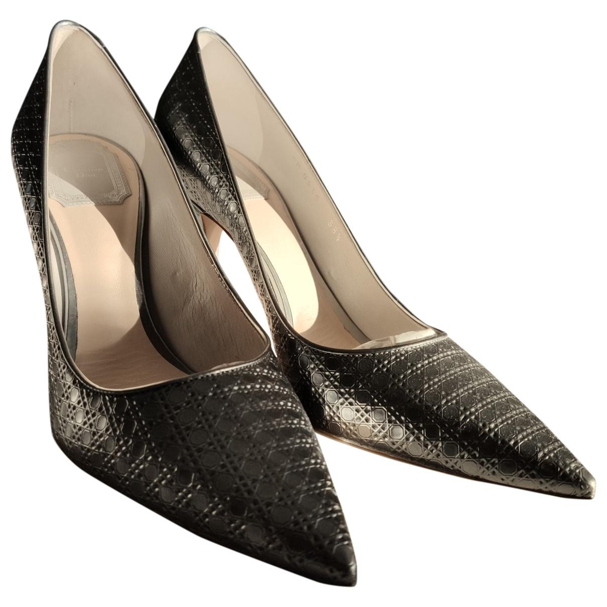 Dior Dior D-Stiletto Silver Leather Heels for Women 38.5 EU