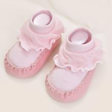 Calcetines de bebe ribete con fruncido
