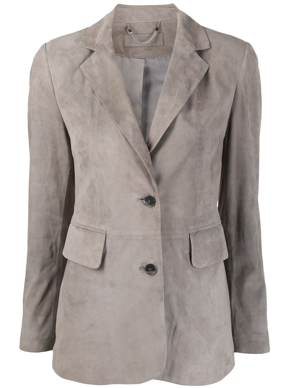 Single Breasted Suede Blazer