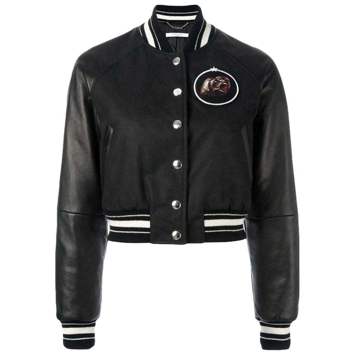Givenchy - Veste   pour femme en cuir - noir