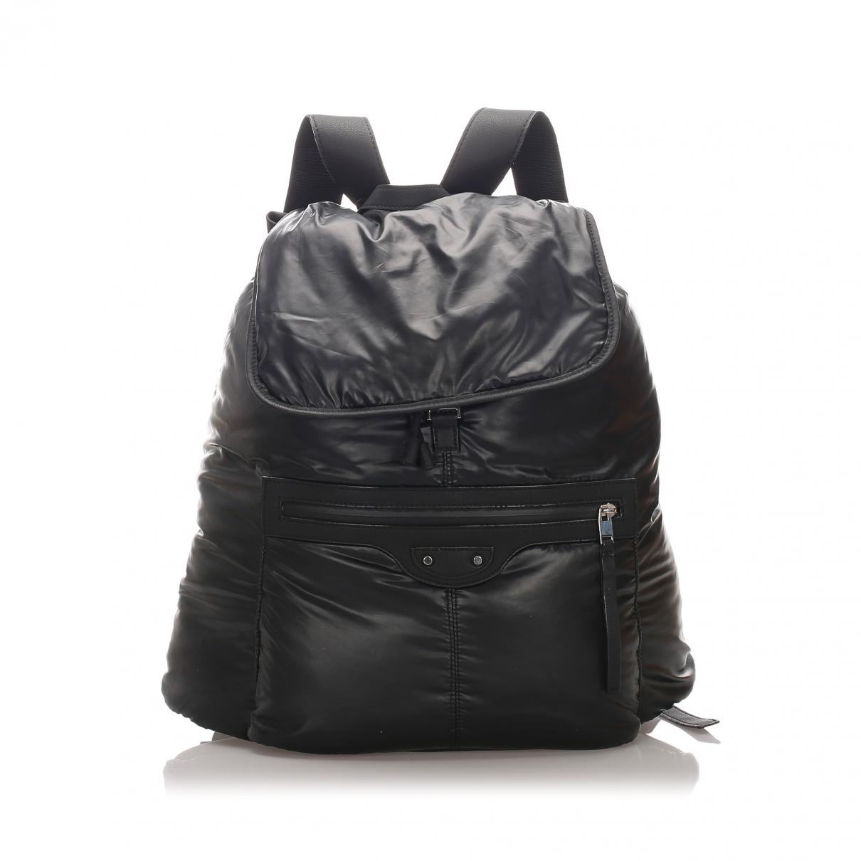 Balenciaga - Sac a dos   pour femme en toile - noir