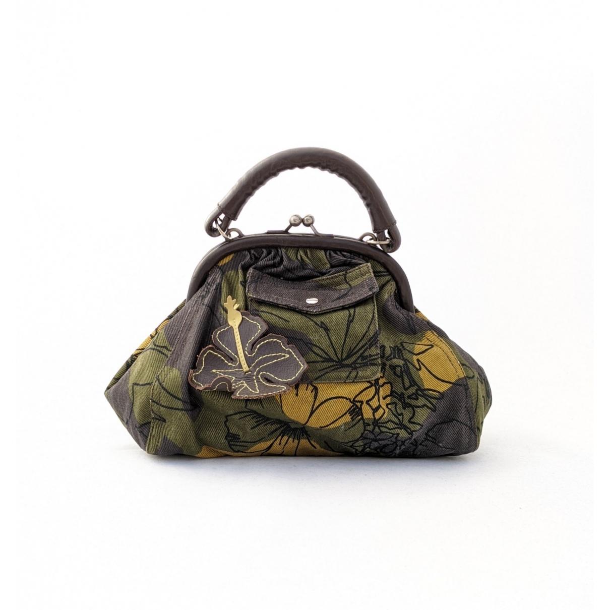 Miu Miu \N Khaki Cotton Clutch bag for Women \N