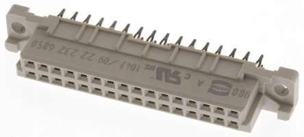 HARTING 32 Way 2.54mm Pitch, Type 2B Class C2, 2 Row, Straight DIN 41612 Connector, Socket