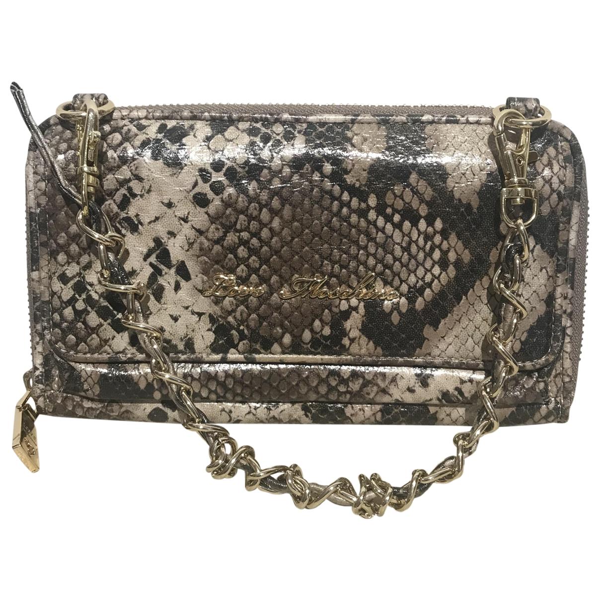 Moschino Love \N Handtasche in  Beige Leder