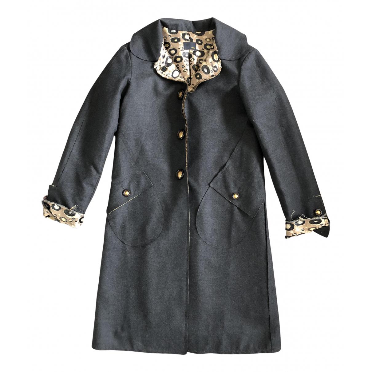 Fendi - Manteau   pour homme en laine - gris