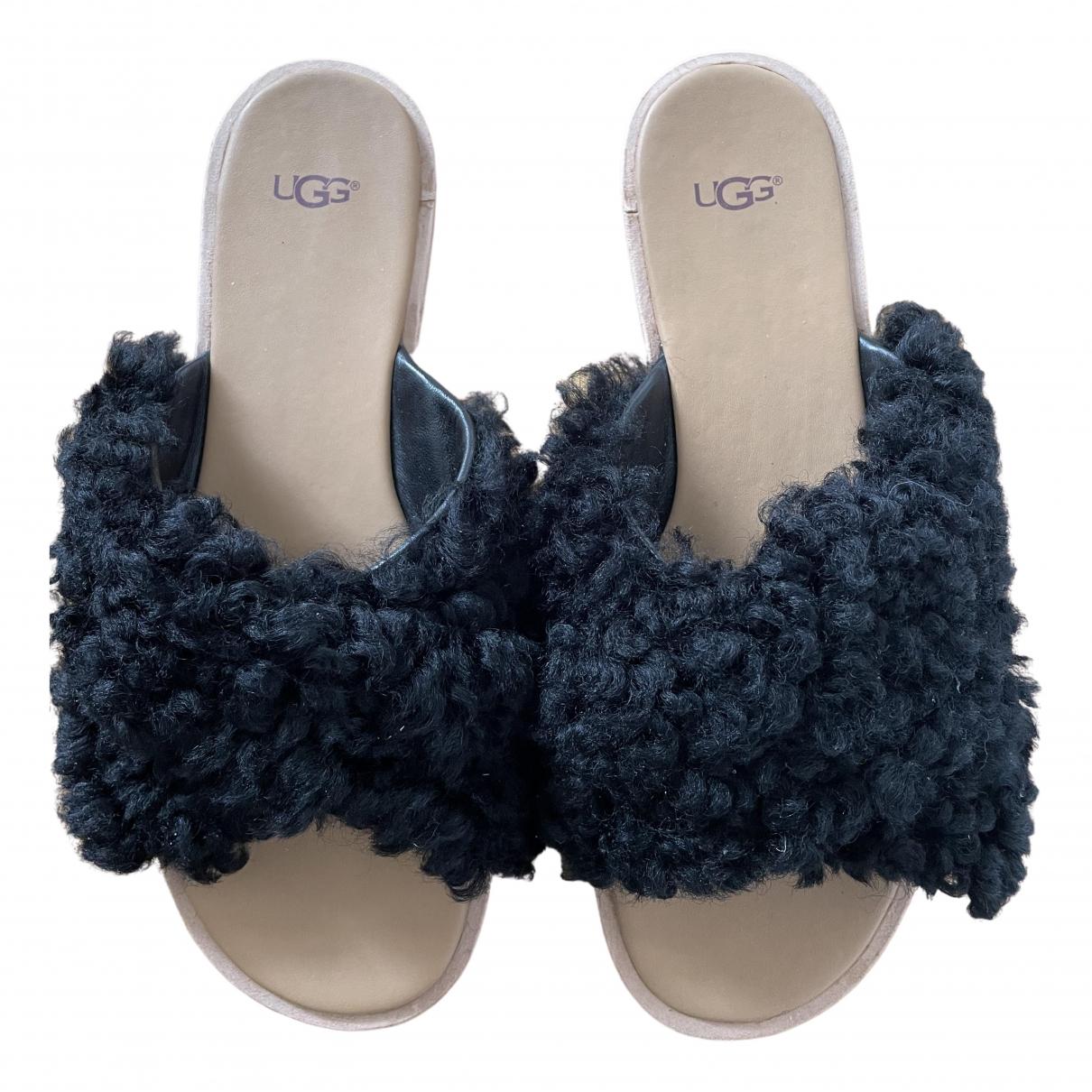 Ugg - Sandales   pour femme en mouton - noir