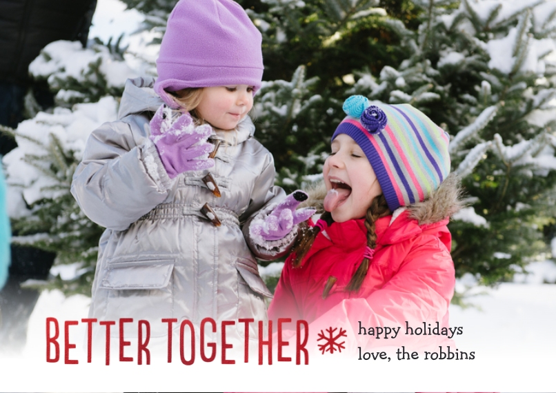 Christmas Photo Cards Flat Matte Photo Paper Cards with Envelopes, 5x7, Card & Stationery -Better Together