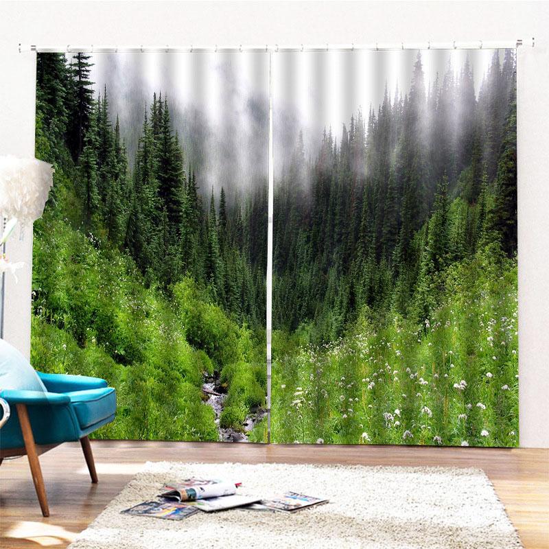 Beddinginn Forest Modern Blackout Curtains/Window Screens