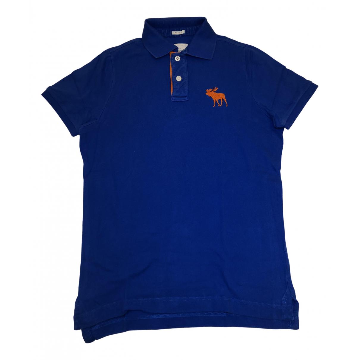 Abercrombie & Fitch - Polos   pour homme en coton - bleu