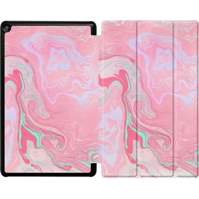 Amazon Fire HD 10 (2017) Tablet Smart Case - Marbled Effect Pink von Emanuela Carratoni