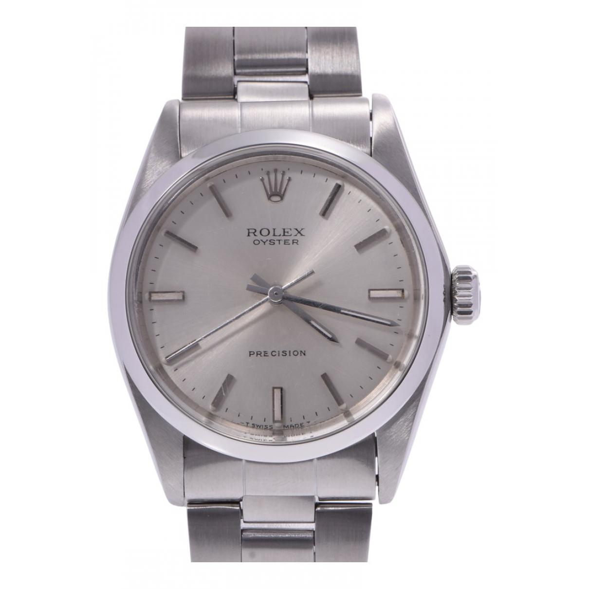 Rolex Oysterdate 34mm Silver Steel watch for Women N