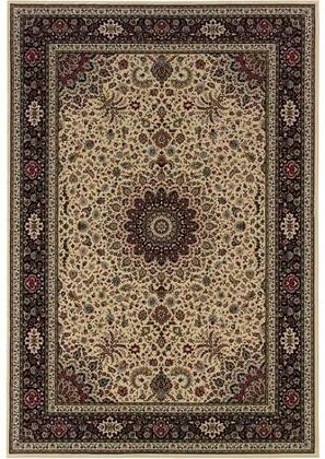 A095B3240240SQ 8' Square Rug with Oriental Pattern and PolypropyleneFiber