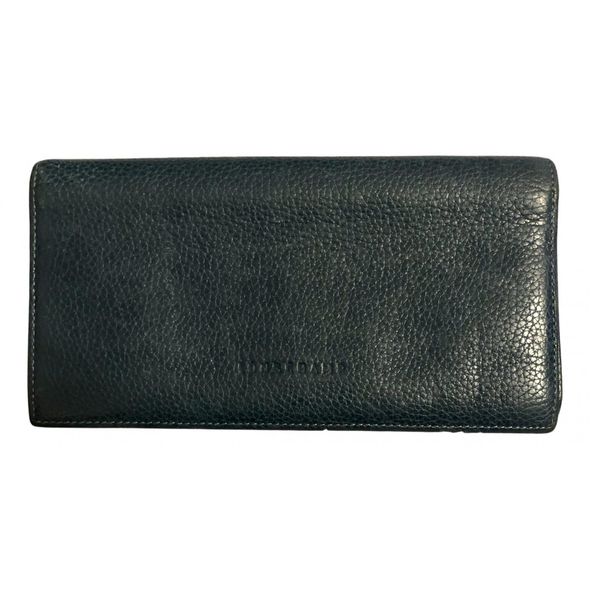 Longchamp - Portefeuille   pour femme en cuir - bleu