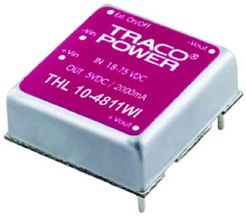 TRACOPOWER THL 10WI 10W Isolated DC-DC Converter Through Hole, Voltage in 18 → 75 V dc, Voltage out 15V dc