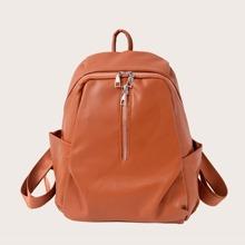 Minimalistischer Rucksack mit Reissverschluss Dekor