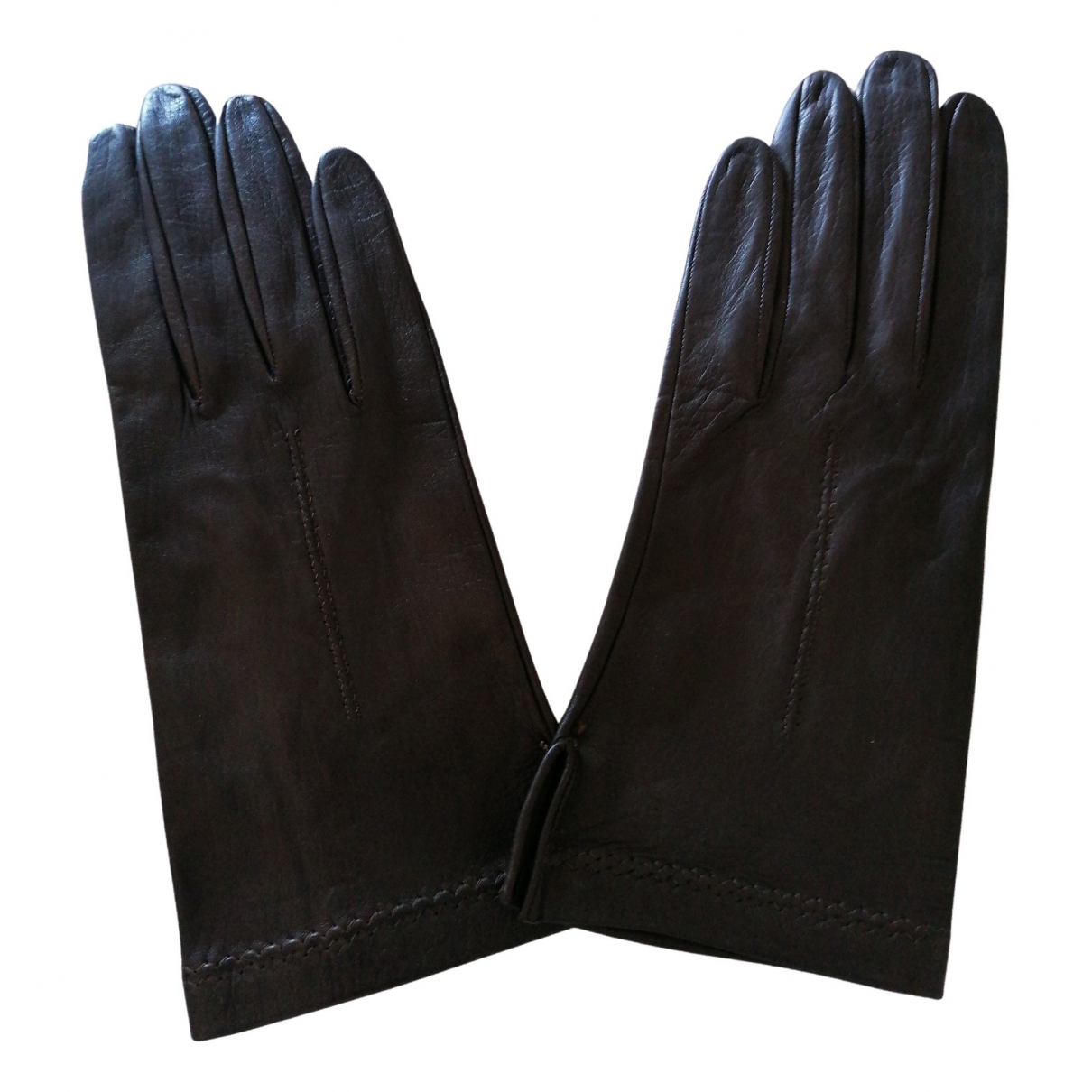 Non Signé / Unsigned Hippie Chic Leather Gloves for Women S International