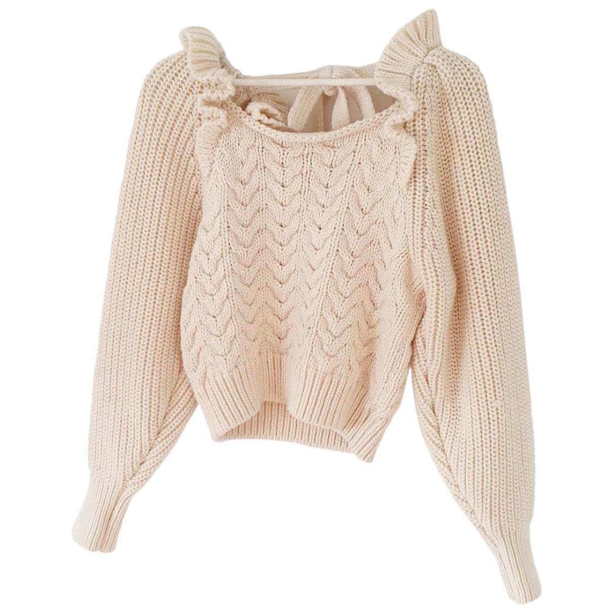 Zara \N Pullover in  Beige Baumwolle