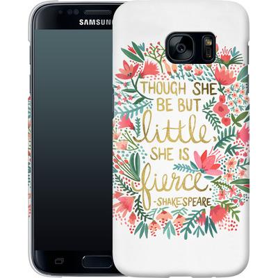 Samsung Galaxy S7 Smartphone Huelle - Little But Fierce White von Cat Coquillette