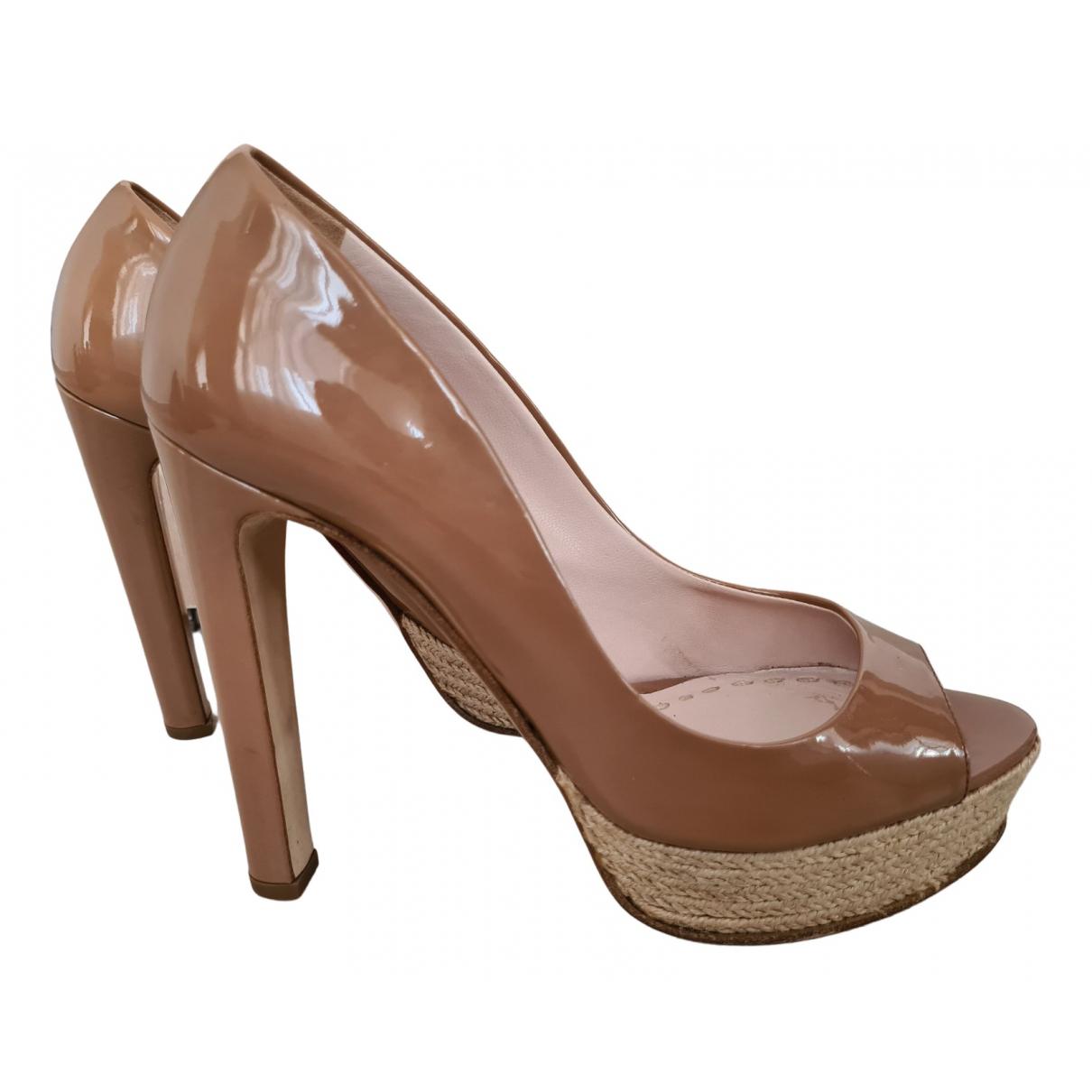 Miu Miu N Brown Patent leather Heels for Women 38 EU