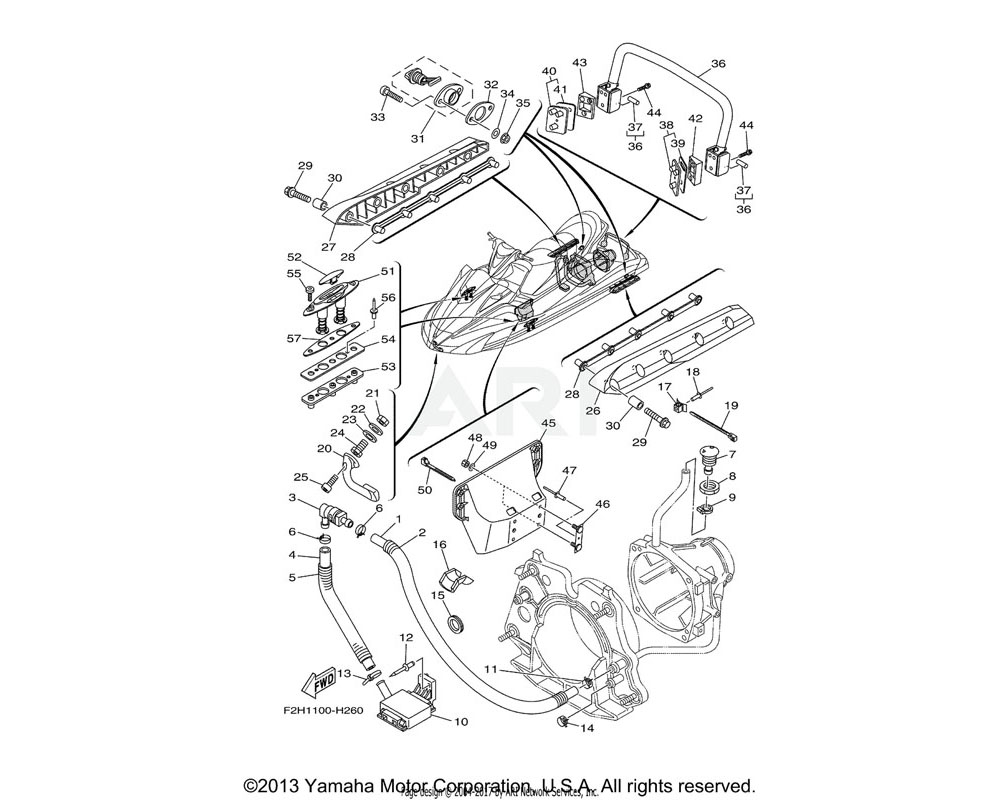 Yamaha OEM F2H-U278L-00-00 BRACKET 2