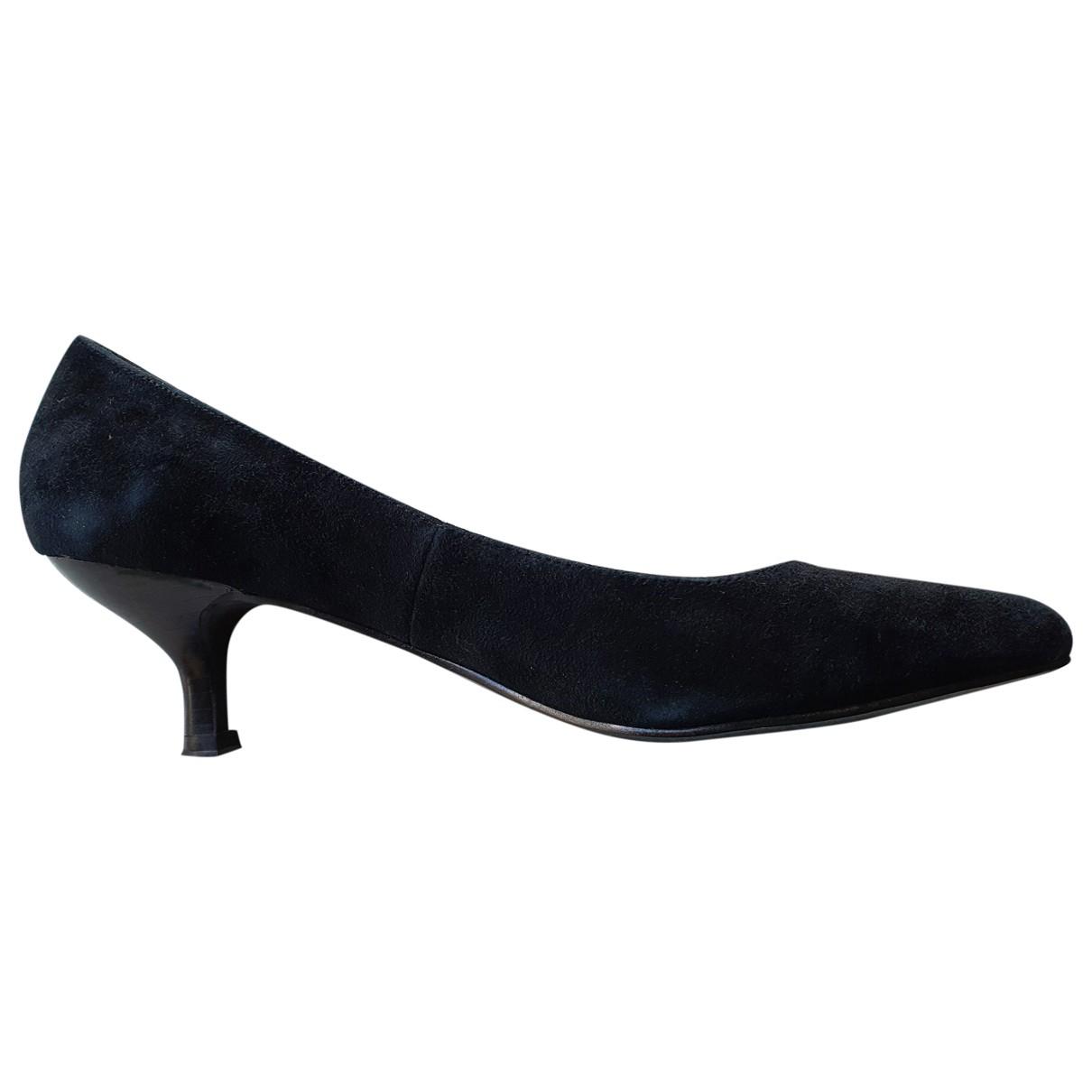 Mellow Yellow - Escarpins   pour femme en suede - noir