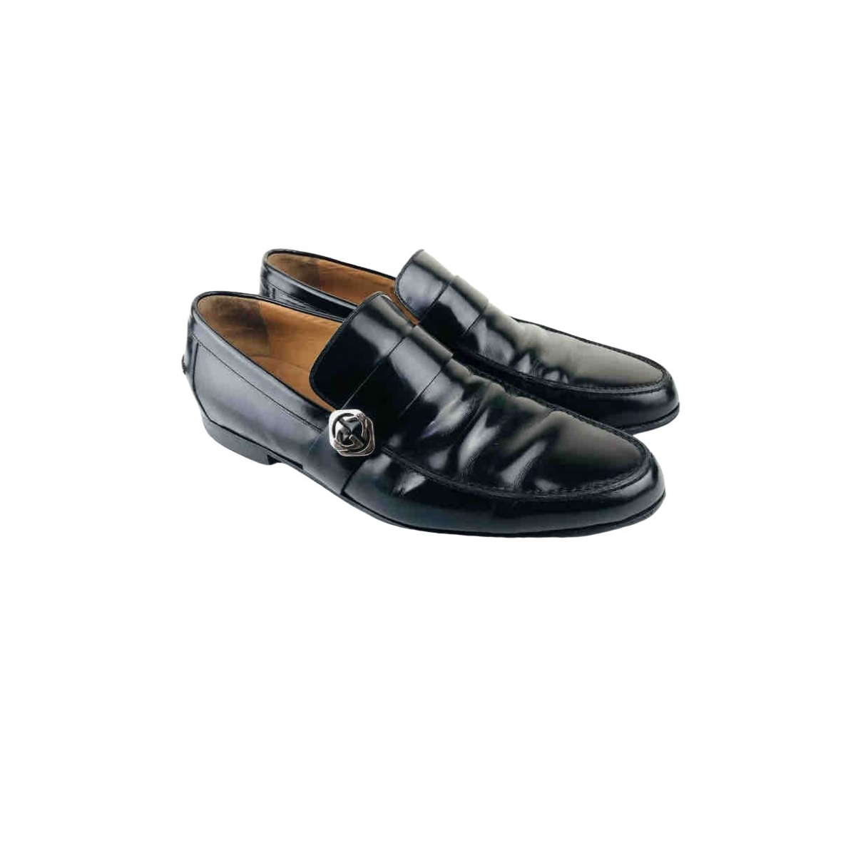 Gucci \N Black Patent leather Flats for Men 10 UK