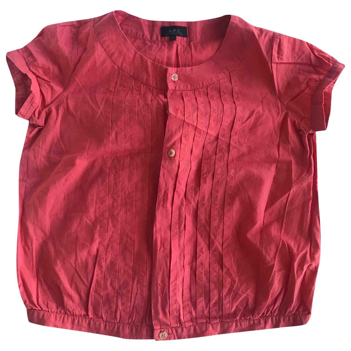 Apc \N Top in  Rot Baumwolle