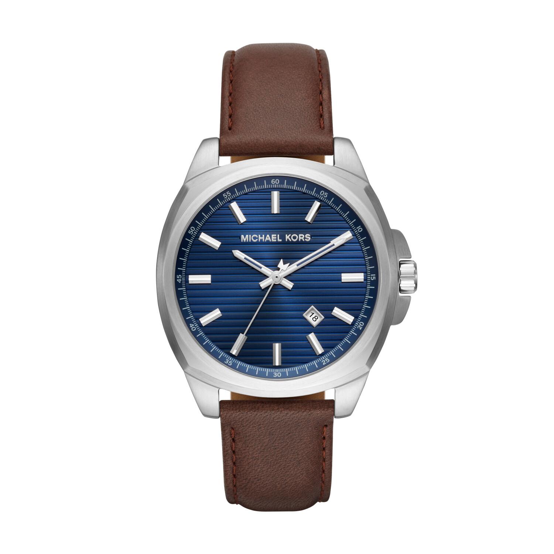Michael Kors Men's Bryson MK8631 Blue Leather Quartz Fashion Watch