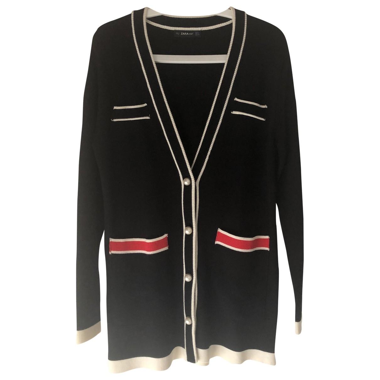 Zara - Pull   pour femme en coton - noir
