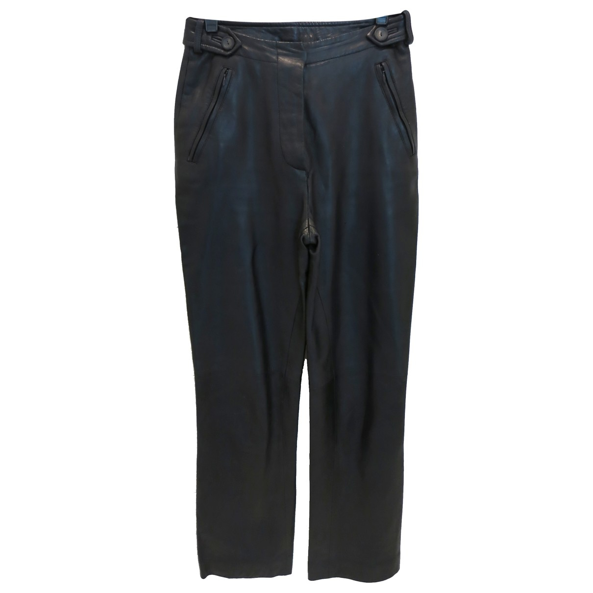 Gucci \N Black Leather Trousers for Women 38 IT