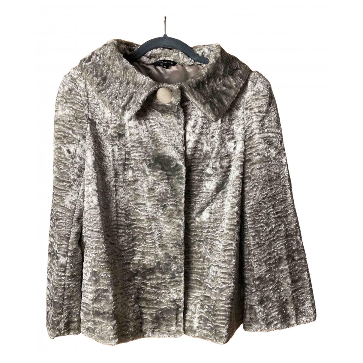Tara Jarmon - Manteau   pour femme en fourrure synthetique - gris