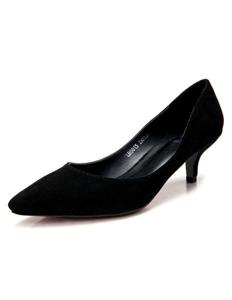 Milanoo Mother Of The Bride Shoes 2020 Kitten Heel Baic Pumps Green Slip On Shoes For Women