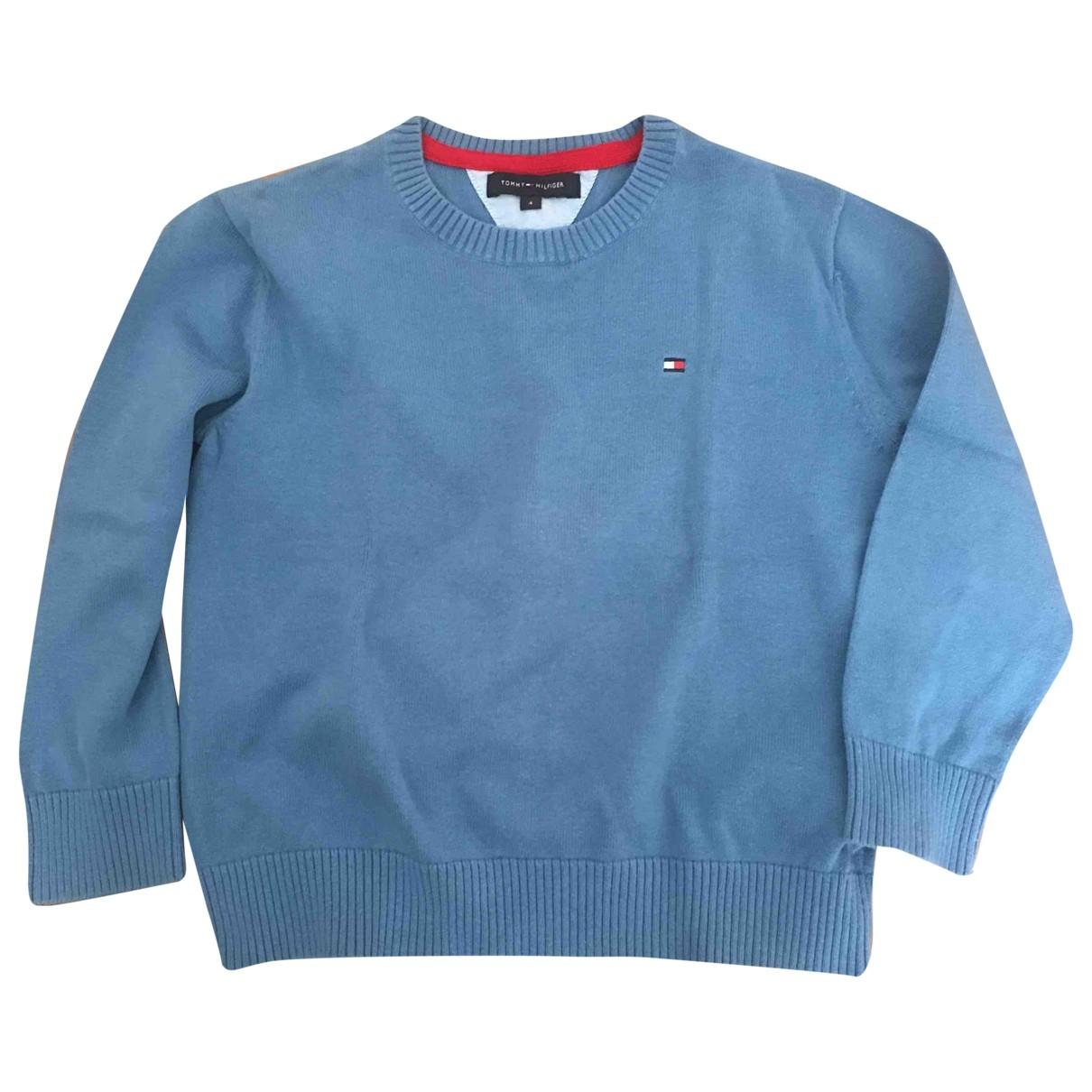 Tommy Hilfiger - Pull   pour enfant en coton - bleu