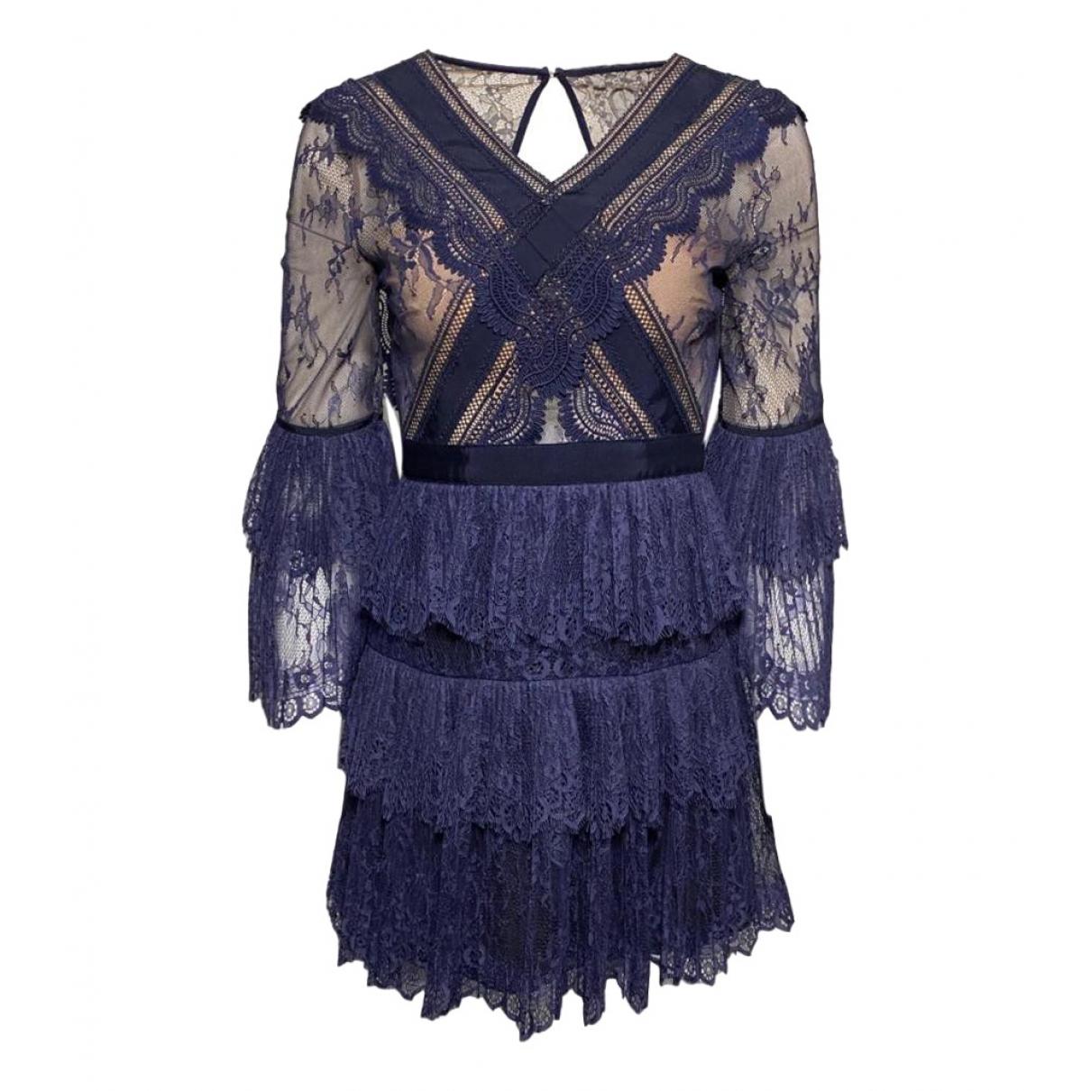Self Portrait \N Blue Lace dress for Women 8 UK
