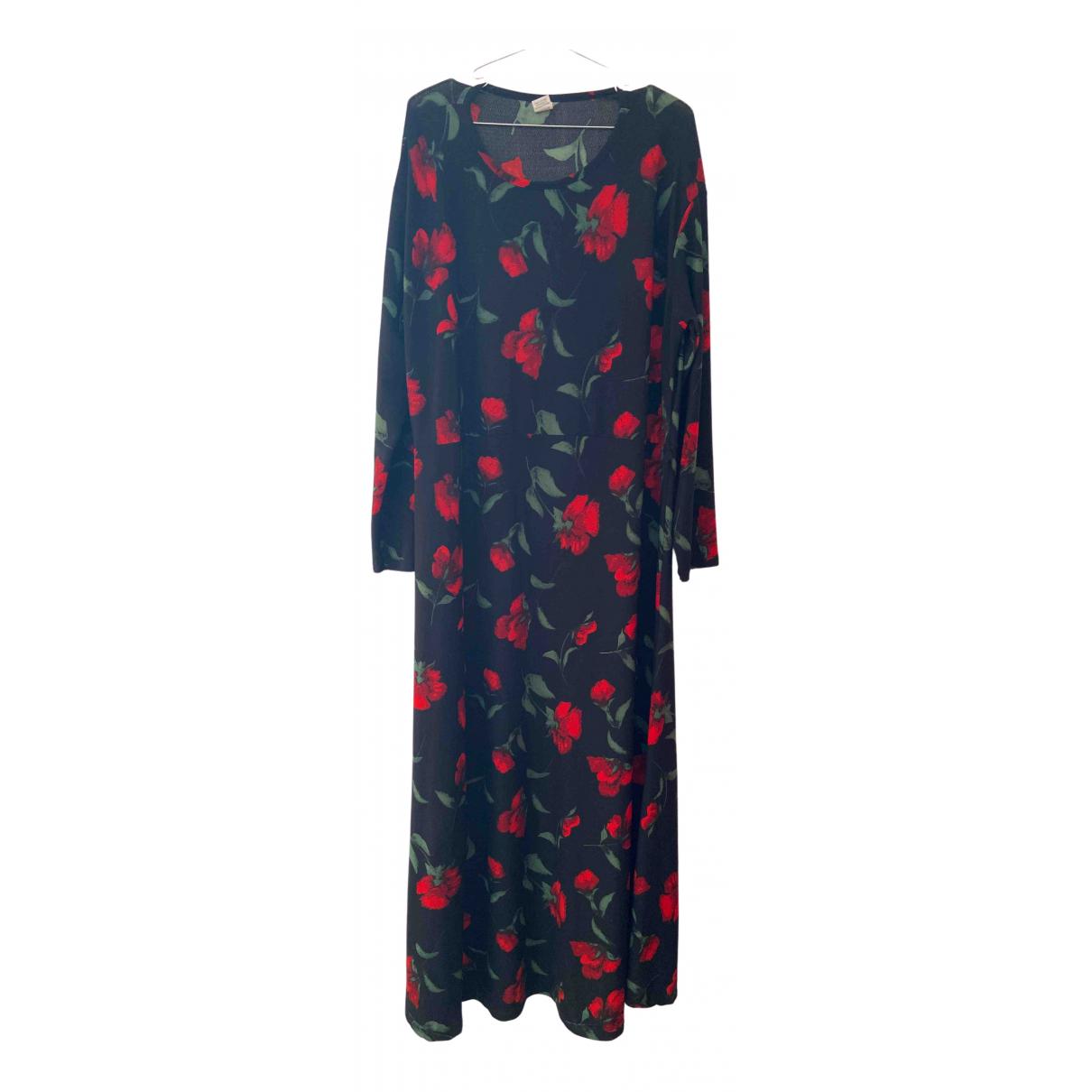 Non Signe / Unsigned \N Kleid in  Schwarz Baumwolle