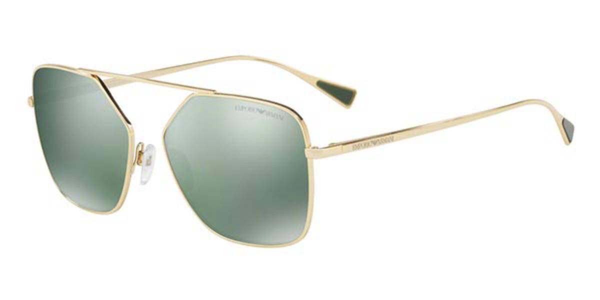 Emporio Armani EA2053 30136R Mens Sunglasses Silver Size 56