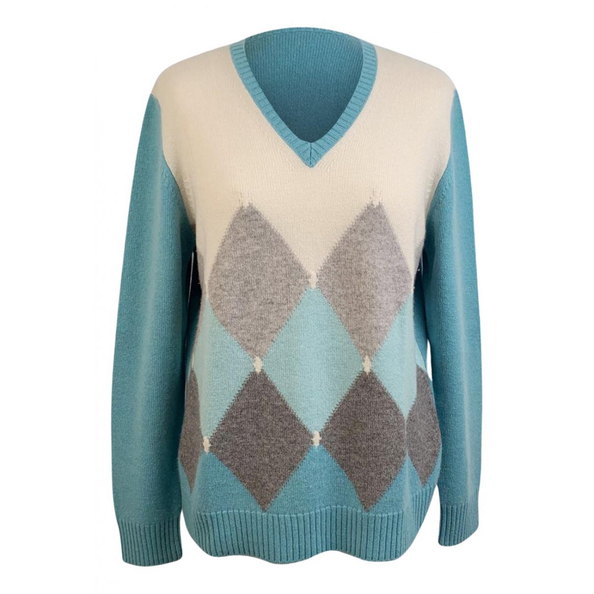 Non Signe / Unsigned \N Pullover in  Blau Kaschmir