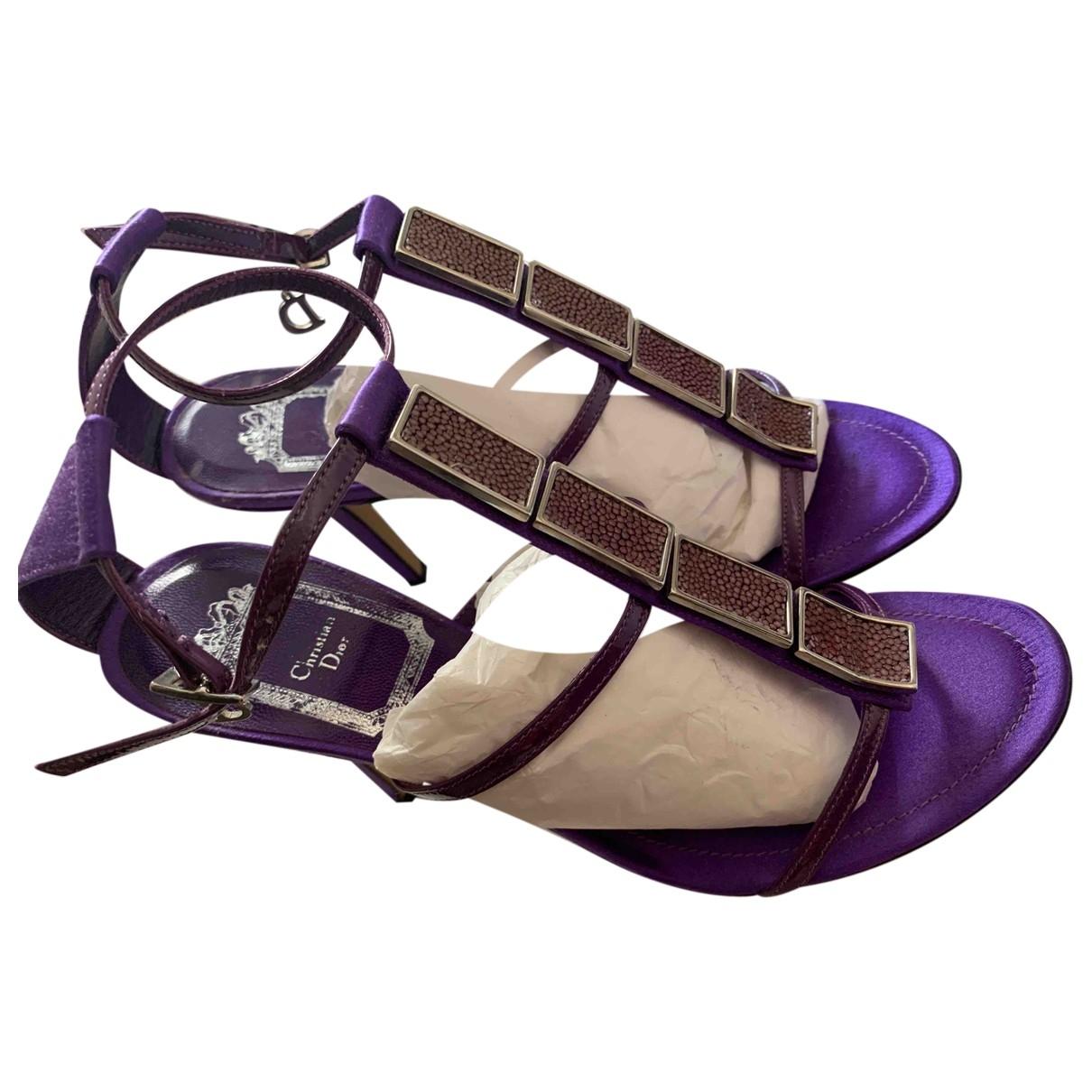 Dior - Sandales   pour femme en toile - violet