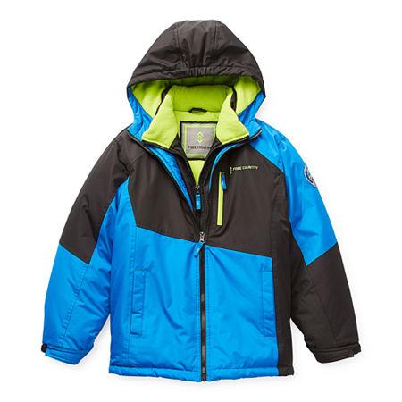 Free Country Vestee Little & Big Boys Heavyweight Ski Jacket, Small (8) , Black