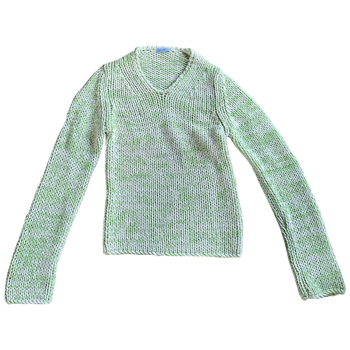 Malo - Pull   pour femme en coton - vert