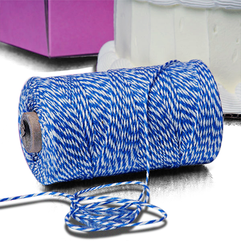 Cotton 4 Ply 240 Yards Blue/White Pm Baker s Twine by Ribbons.com   Length - 240 YardsS