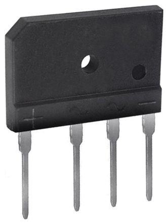 HY Electronic Corp GBJ1006, Bridge Rectifier, 10A 600V, 4-Pin GBJ (15)