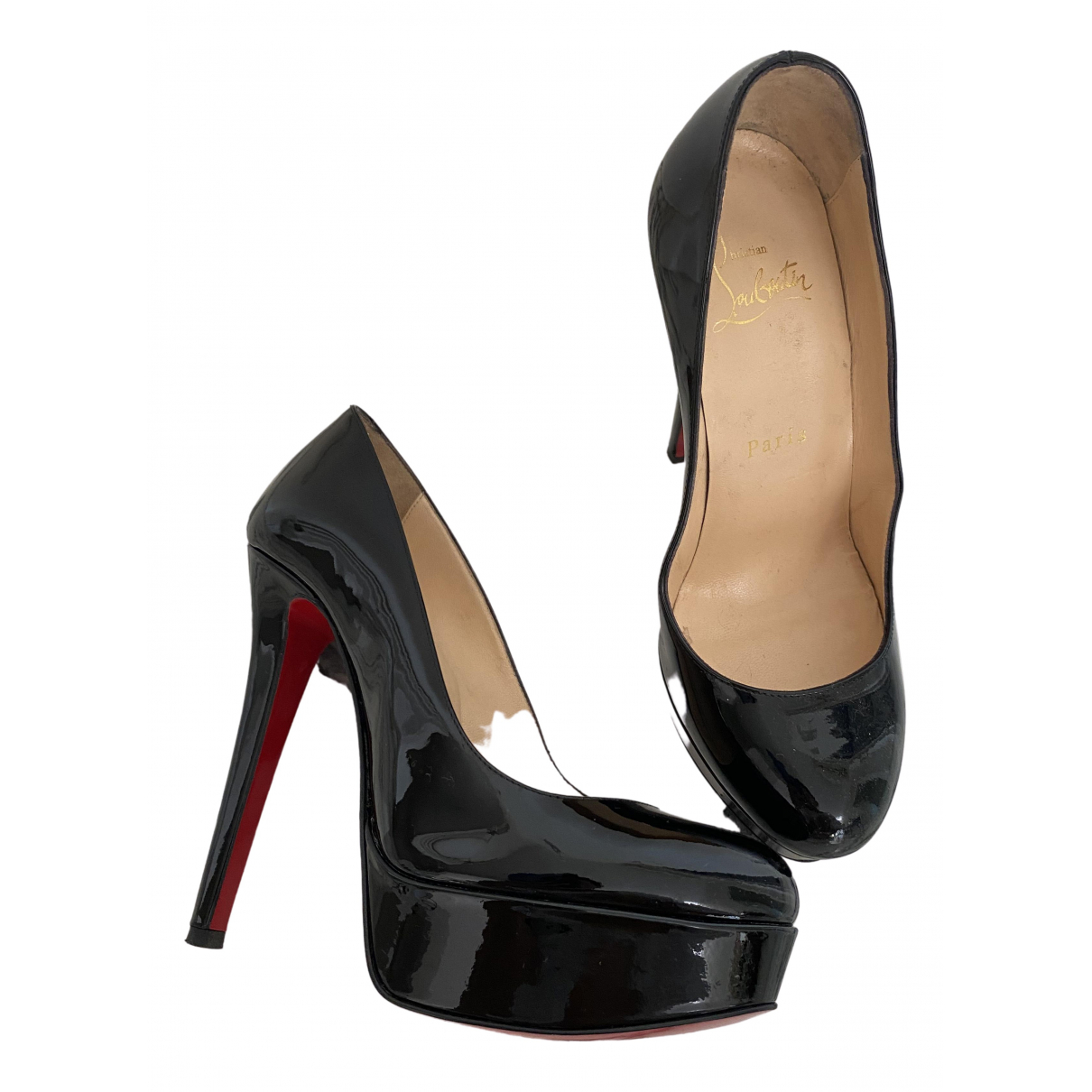 Christian Louboutin Bianca Black Patent leather Heels for Women 35.5 EU