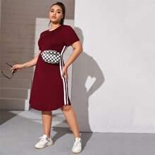 Plus Side Stripe Fitted Dress