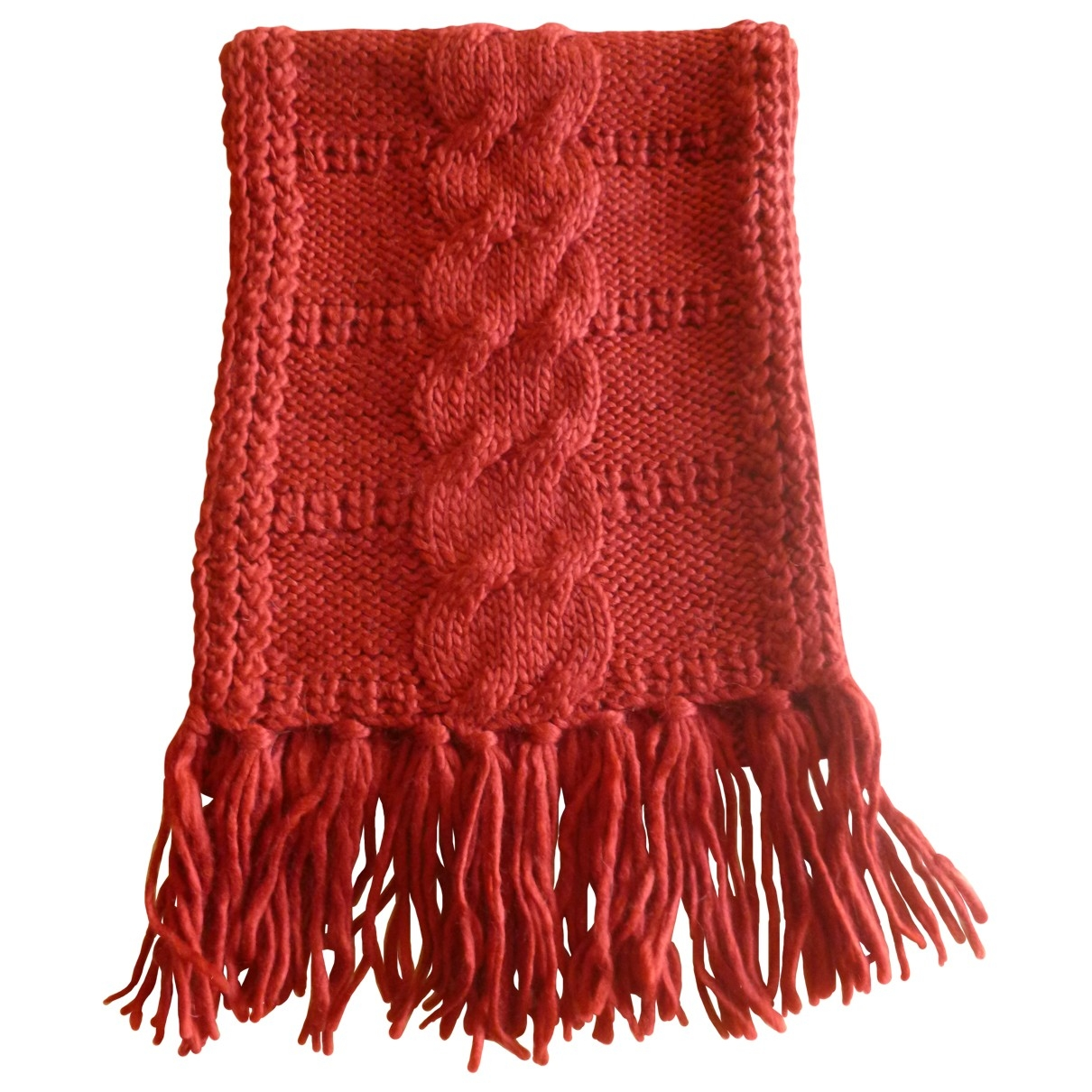 Non Signé / Unsigned \N Burgundy scarf for Women \N