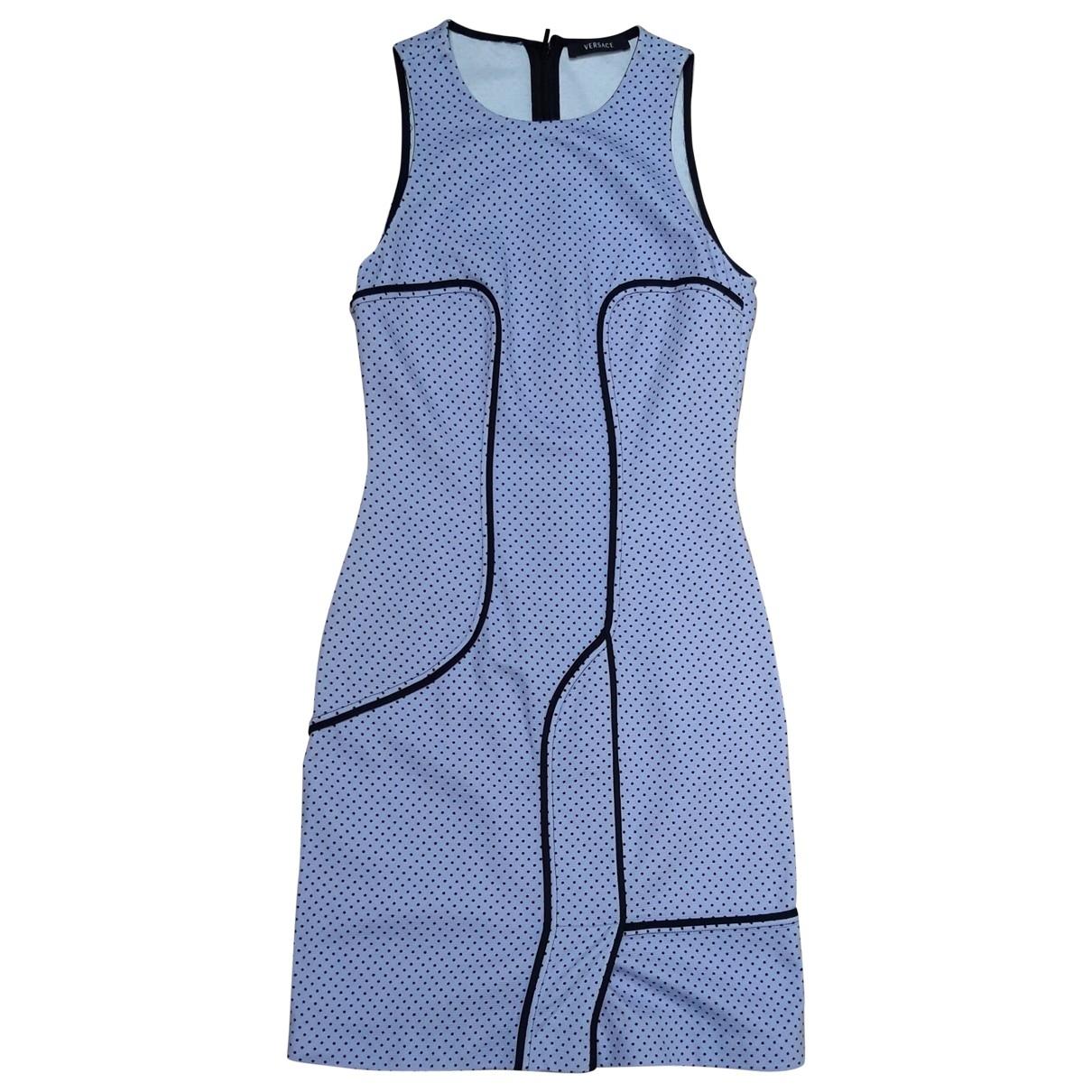 Gianni Versace \N Kleid in  Lila Baumwolle