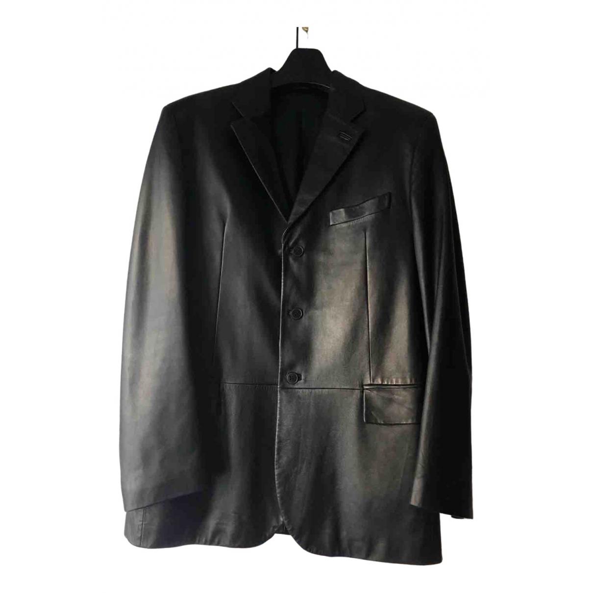 Ermenegildo Zegna \N Black Leather jacket  for Men 52 IT