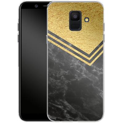 Samsung Galaxy A6 Silikon Handyhuelle - Gold Marble von caseable Designs