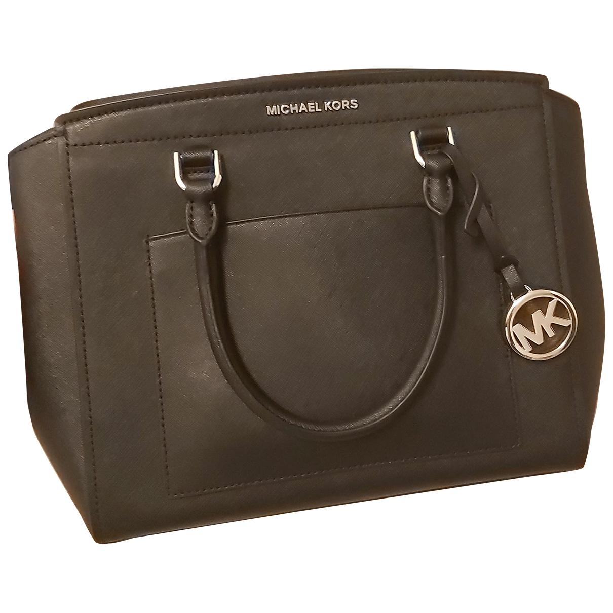 Michael Kors Mercer Handtasche in  Schwarz Leder